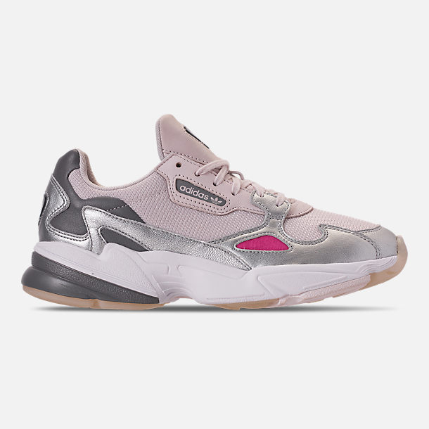 Right view of Women's adidas Originals Falcon Suede Casual Shoes in Orchid Tint/Silver