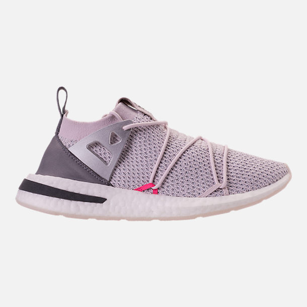 Right view of Women's adidas Originals Arkyn Primeknit Casual Shoes in Orchid Tint/Grey