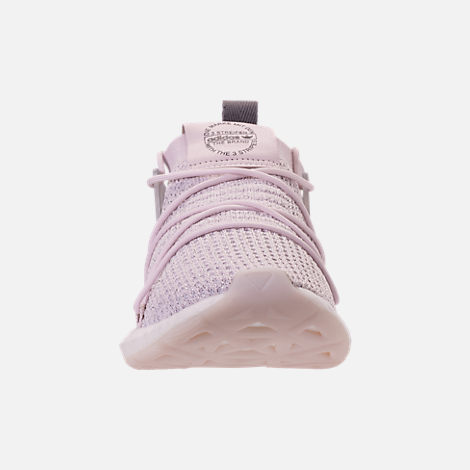 Front view of Women's adidas Originals Arkyn Primeknit Casual Shoes in Orchid Tint/Grey