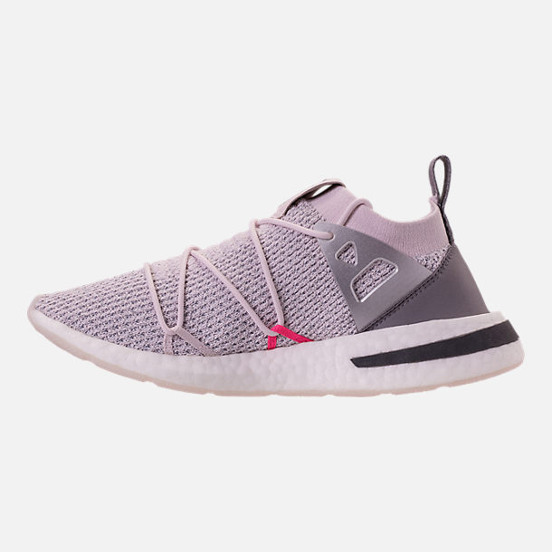 Left view of Women's adidas Originals Arkyn Primeknit Casual Shoes in Orchid Tint/Grey