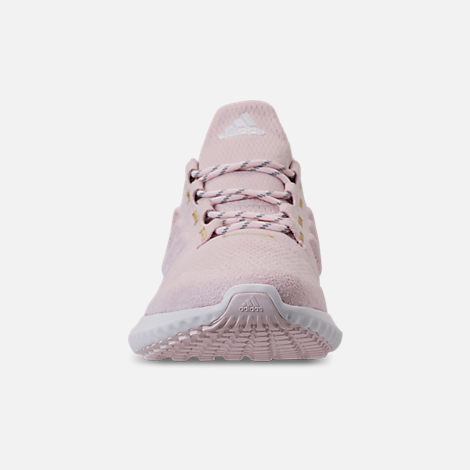 Front view of Women's adidas AlphaBounce City Running Shoes in Orchid Tint/White/Gold