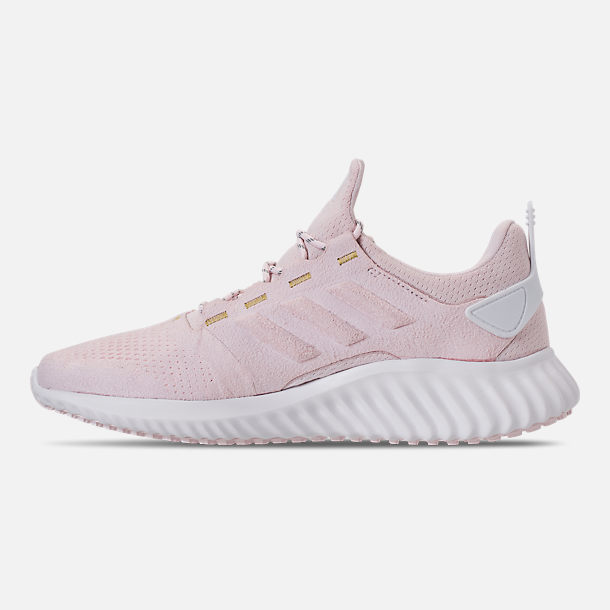 Left view of Women's adidas AlphaBounce City Running Shoes in Orchid Tint/White/Gold