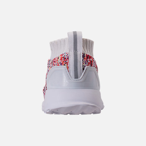 Back view of Kids' Toddler adidas RapidaRun Laceless Knit Running Shoes in Footwear White/Grey Two