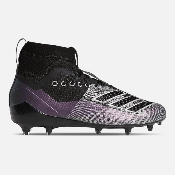 Right view of Men's adidas adizero Burner SK Football Cleats in Core Black/Night Metallic/Grey