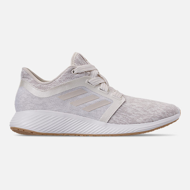 Right view of Women's adidas Edge Lux Running Shoes in Raw White/Cloud White/Gold Metallic