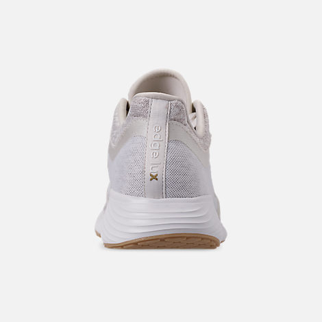 Back view of Women's adidas Edge Lux Running Shoes in Raw White/Cloud White/Gold Metallic