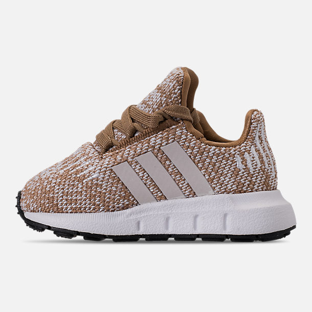 0e0d509014a Left view of Boys  Toddler adidas Swift Run Casual Shoes in Cardboard Clear  Brown