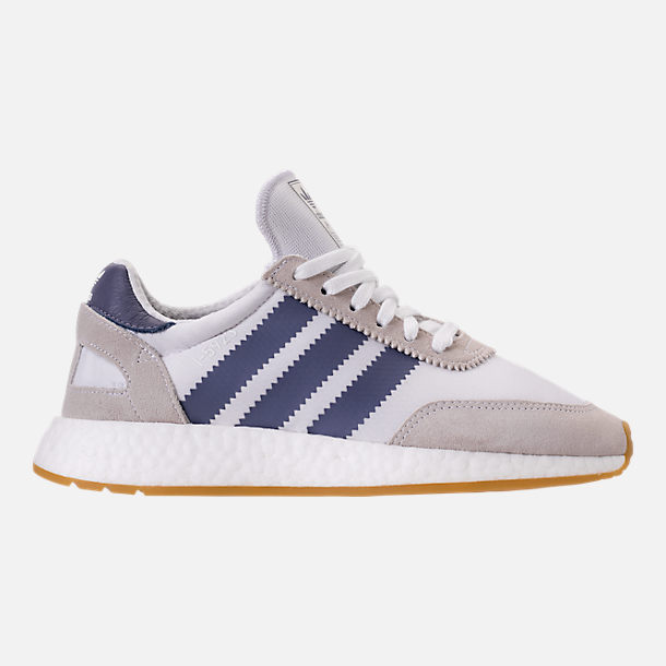 Right view of Women's adidas I-5923 Runner Casual Shoes in White/Raw Indigo/Gum