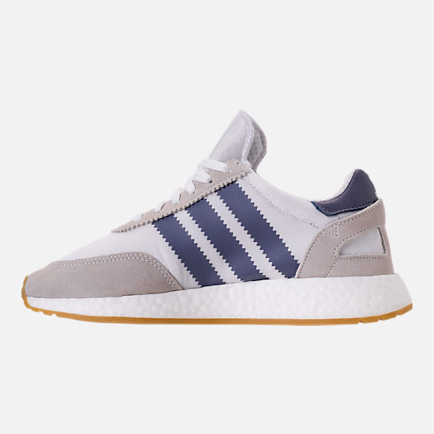 Left view of Women's adidas I-5923 Runner Casual Shoes in White/Raw Indigo/Gum