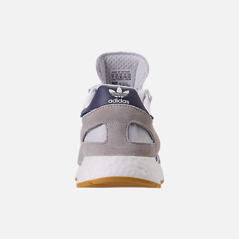 Back view of Women's adidas I-5923 Runner Casual Shoes in White/Raw Indigo/Gum