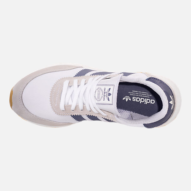Top view of Women's adidas I-5923 Runner Casual Shoes in White/Raw Indigo/Gum