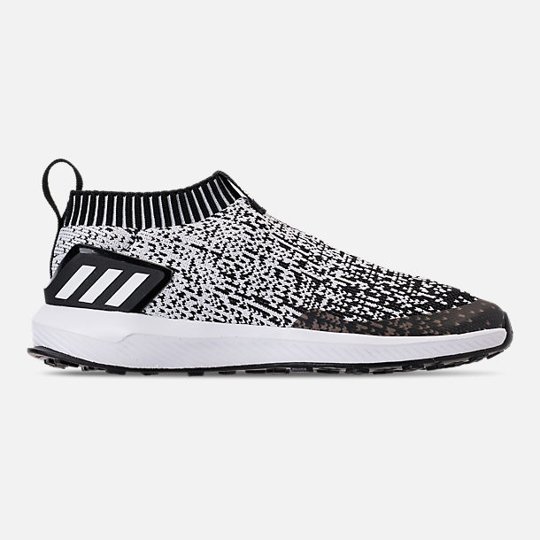 Right view of Boys' Little Kids' adidas RapidaRun Laceless Running Shoes in Core Black/Footwear White