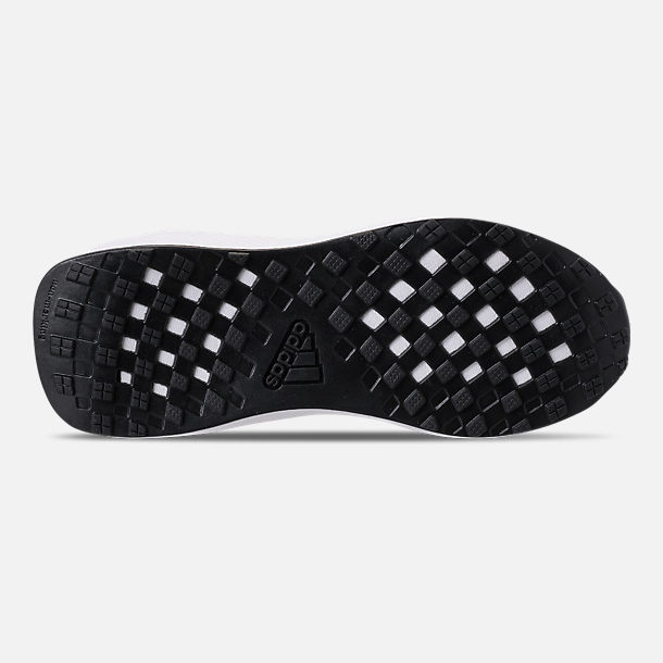 Bottom view of Boys' Little Kids' adidas RapidaRun Laceless Running Shoes in Core Black/Footwear White