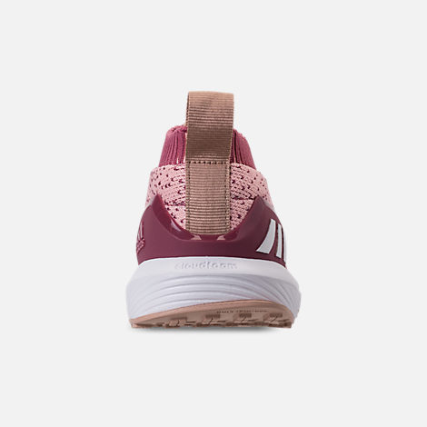 Back view of Girls' Little Kids' adidas RapidaRun Laceless Running Shoes in Trace Maroon/Clear Orange/Ash