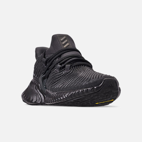 636c04bb864f6 Three Quarter view of Boys  Big Kids  adidas AlphaBounce Instinct Running  Shoes in Carbon