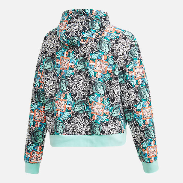 Alternate view of Girls' adidias Originals Zoo Hoodie in Multicolor/Clear Mint/White