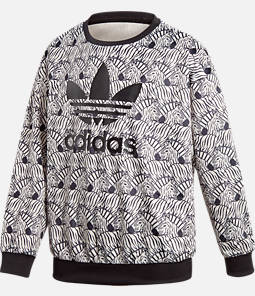 Girls' adidas Zebra Crewneck Sweatshirt