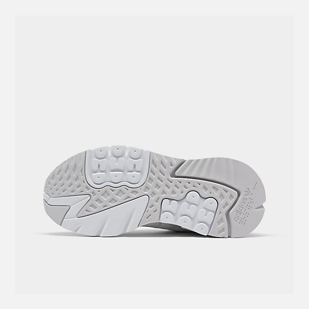 Bottom view of Women's adidas Originals Nite Jogger Casual Shoes in Grey/White/Grey