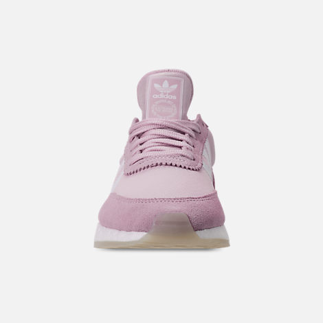 Front view of Women's adidas I-5923 Runner Casual Shoes in Aero Pink/White