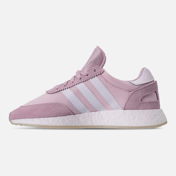 Left view of Women's adidas I-5923 Runner Casual Shoes in Aero Pink/White