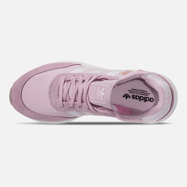 Top view of Women's adidas I-5923 Runner Casual Shoes in Aero Pink/White