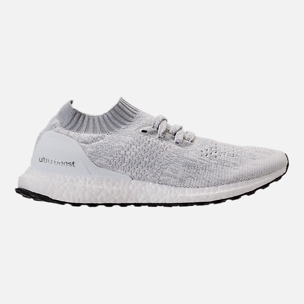 Right view of Men's adidas UltraBOOST Uncaged Running Shoes in Footwear White/White Ink/Core Black
