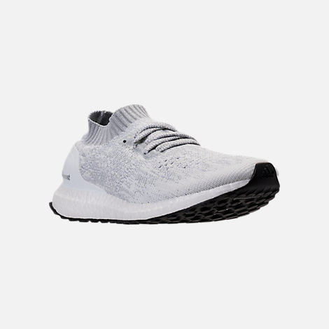 Three Quarter view of Men's adidas UltraBOOST Uncaged Running Shoes in Footwear White/White Ink/Core Black
