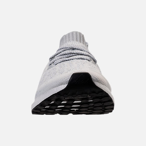 Front view of Men's adidas UltraBOOST Uncaged Running Shoes in Footwear White/White Ink/Core Black