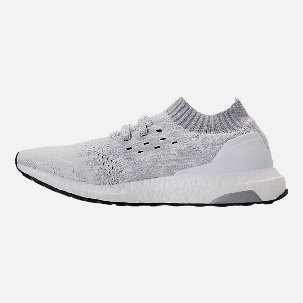 Left view of Men's adidas UltraBOOST Uncaged Running Shoes in Footwear White/White Ink/Core Black