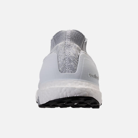 Back view of Men's adidas UltraBOOST Uncaged Running Shoes in Footwear White/White Ink/Core Black
