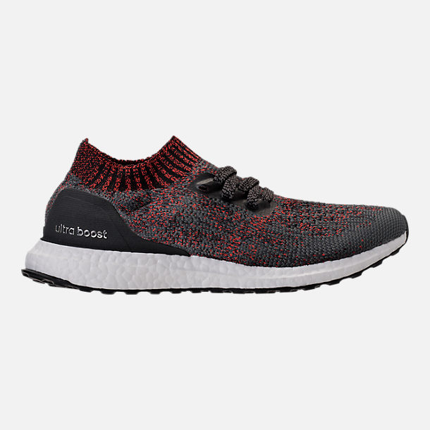 Right view of Men's adidas UltraBOOST Uncaged Running Shoes in Carbon/Core Black/Footwear White