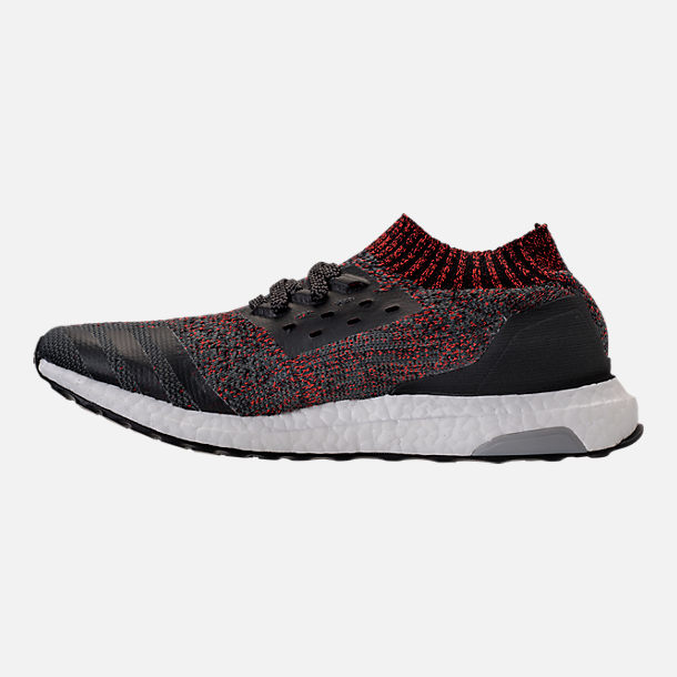 Left view of Men's adidas UltraBOOST Uncaged Running Shoes in Carbon/Core Black/Footwear White