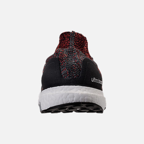 Back view of Men's adidas UltraBOOST Uncaged Running Shoes in Carbon/Core Black/Footwear White