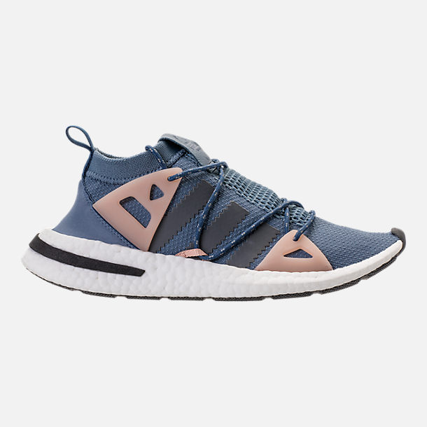 Right view of Women's adidas Originals Arkyn Boost Casual Shoes in Raw Steel/Ash Grey/Pearl