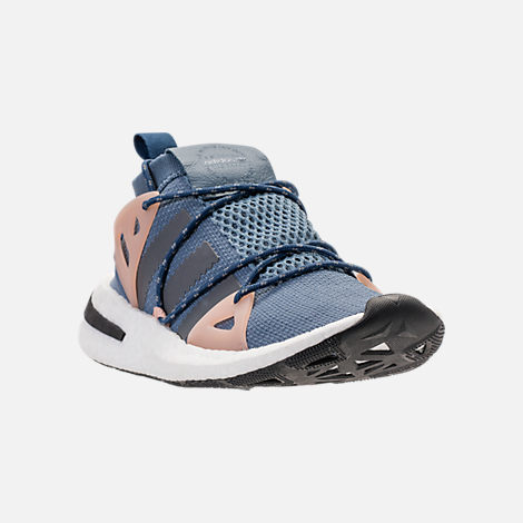 Three Quarter view of Women's adidas Originals Arkyn Boost Casual Shoes in Raw Steel/Ash Grey/Pearl