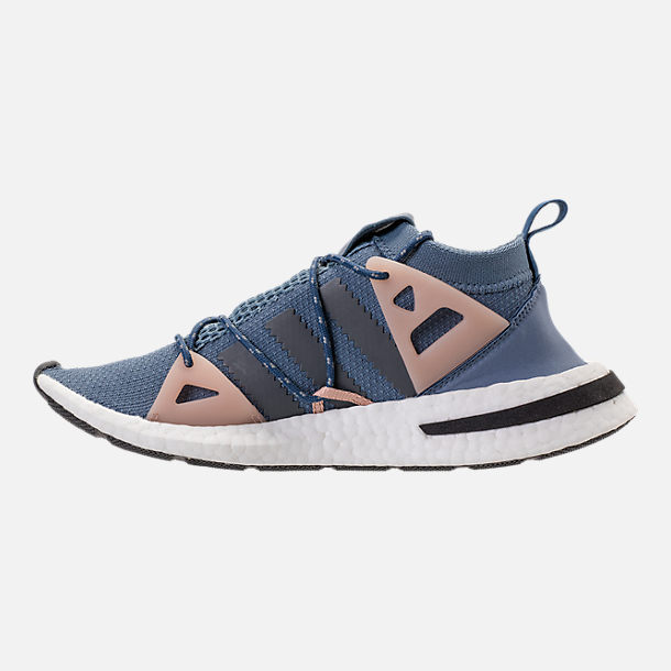 Left view of Women's adidas Originals Arkyn Boost Casual Shoes in Raw Steel/Ash Grey/Pearl