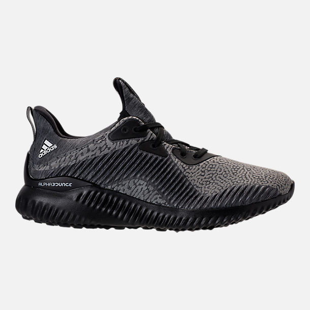 Right view of Boys' Grade School adidas AlphaBounce HPC Aramis Running Shoes in Black/Black/Black