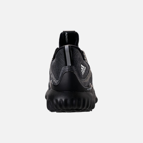 Back view of Boys' Grade School adidas AlphaBounce HPC Aramis Running Shoes in Black/Black/Black
