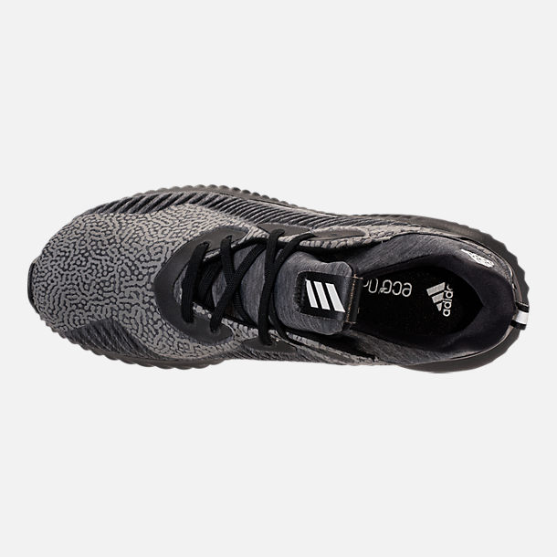 Top view of Boys' Grade School adidas AlphaBounce HPC Aramis Running Shoes in Black/Black/Black