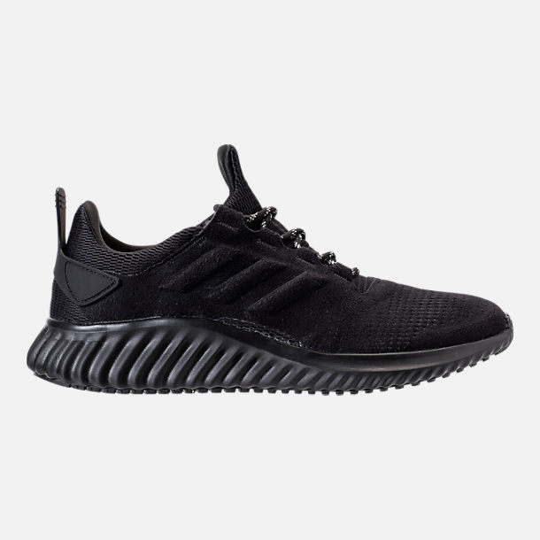 Right view of Men's adidas AlphaBounce City Running Shoes in Black/Black