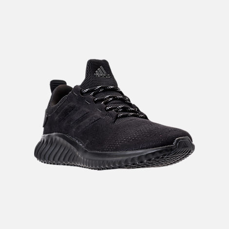 Three Quarter view of Men's adidas AlphaBounce City Running Shoes in Black/Black
