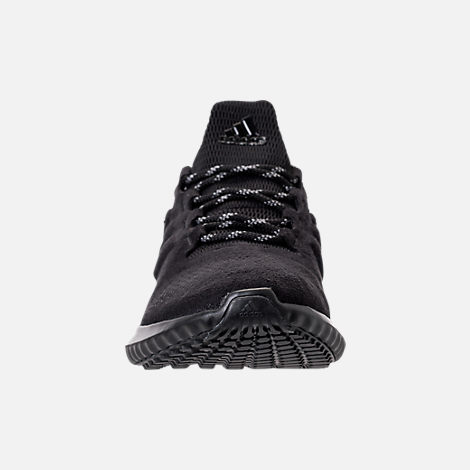 Front view of Men's adidas AlphaBounce City Running Shoes in Black/Black