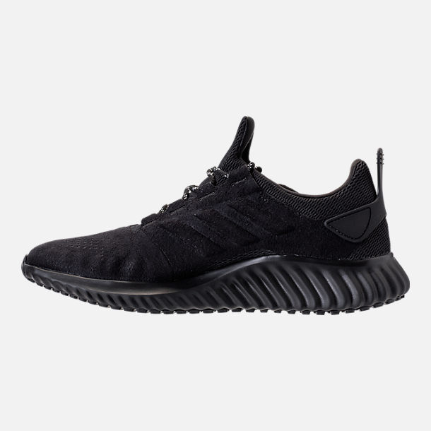 Left view of Men's adidas AlphaBounce City Running Shoes in Black/Black