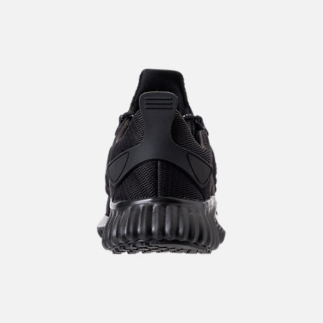 Back view of Men's adidas AlphaBounce City Running Shoes in Black/Black