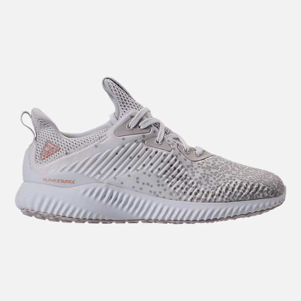 Right view of Women's adidas AlphaBounce Aramis Running Shoes in White/Grey