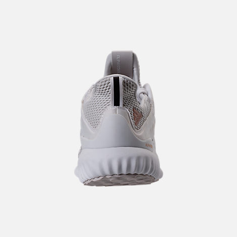 Back view of Women's adidas AlphaBounce Aramis Running Shoes in White/Grey