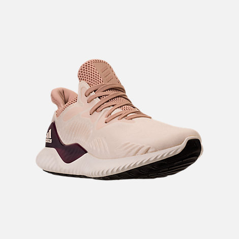 Three Quarter view of Women's adidas AlphaBounce Beyond Running Shoes in Ecru Tint/Ash Pearl/Ash Pearl