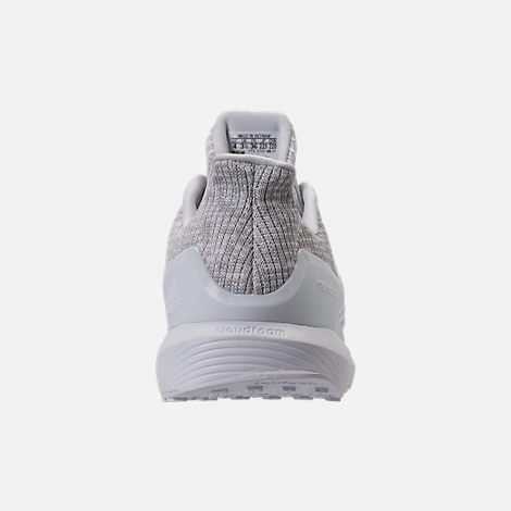 Back view of Boys' Grade School adidas RapidaRun Knit Running Shoes in Grey/White/White