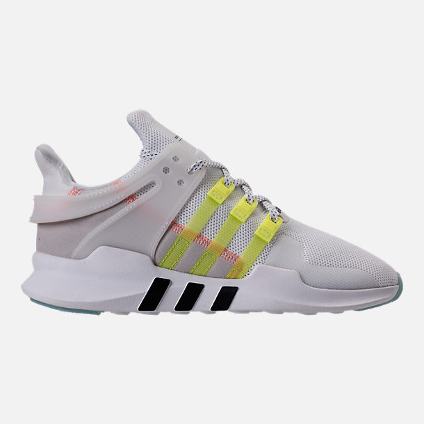Right view of Women's adidas EQT Support ADV Casual Shoes in White/Semi Frozen Yellow