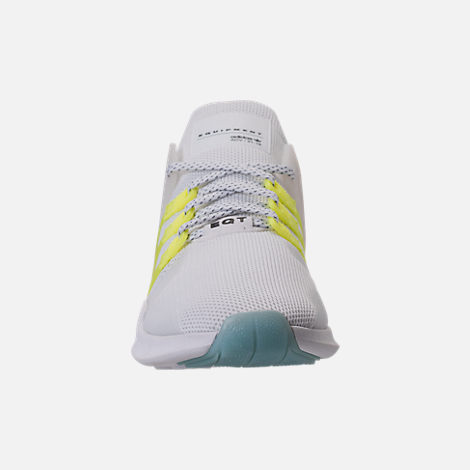 Front view of Women's adidas EQT Support ADV Casual Shoes in White/Semi Frozen Yellow